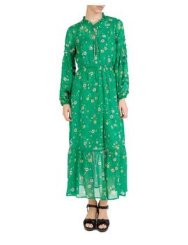 Vert J'espere Floral Print Silk Maxi Dress by The Kooples