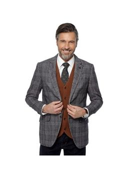 Hammond & Co. By Patrick Grant   Brown Prince Of Wales Check Blazer by Hammond & Co. By Patrick Grant