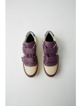 Branded Velcro Sneakers Beige/Purple by Acne Studios
