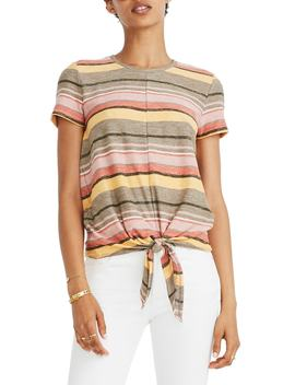 Texture & Thread Modern Tie Front Top by Madewell