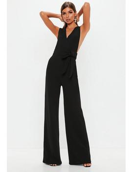 Black Pinafore Style Jumpsuit by Missguided