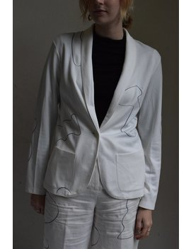 White Ira Lightweight Blazer by Etsy