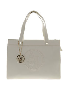 Cream Logo Tote Bag by Armani Jeans