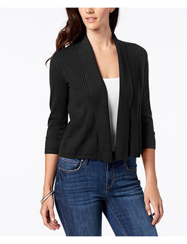 Petite Open Pointelle Knit Cardigan, Created For Macy's by Karen Scott