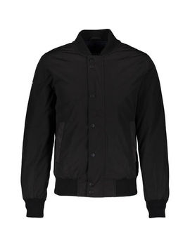 Black Waterproof Lightweight Bomber Jacket by Superdry