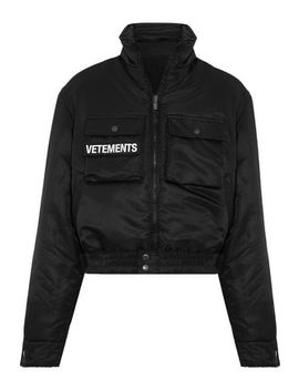 Embroidered Satin Bomber Jacket by Vetements