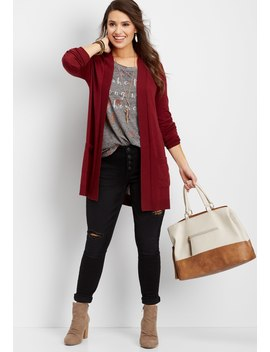 Hooded Pocket Cardigan by Maurices