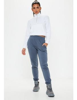 Navy Vintage Slim Joggers by Missguided