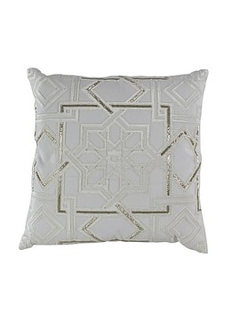 Callisto Home Moroccan Beaded 20 Inch Square Throw Pillow In Crème by Bed Bath And Beyond