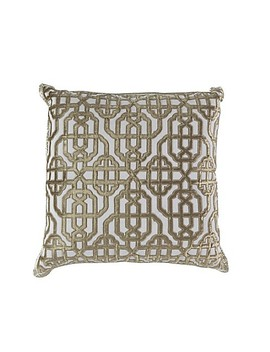 Callisto Home Trellis Accent Pillow In Cream by Bed Bath And Beyond