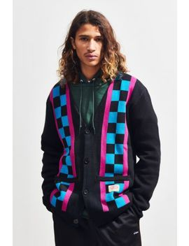 Lazy Oaf Check Stripe Cardigan by Lazy Oaf