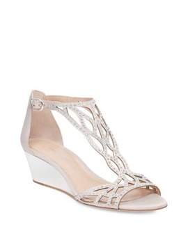 Adelaide Metallic Wedge Sandals by Adrianna Papell