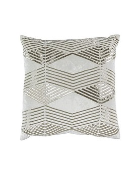 Callisto Home Geo Accent Pillow In Cream by Bed Bath And Beyond