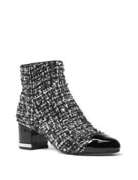 Marcie Tweed Boucle Cap Toe Booties by Michael Michael Kors