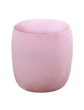 Willow Blush Velvet Ottoman by Generic