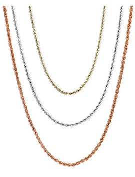 "18 30"" Rope Chain Necklaces In 14k Gold, White Gold Or Rose Gold by Macy's"