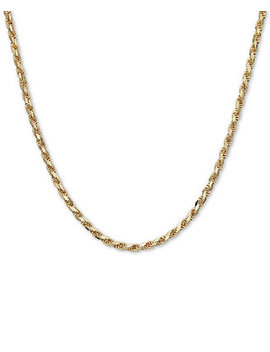 "Rope 22"" Chain Necklace (3 9/10mm) In 14k Gold, Made In Italy by Italian Gold"