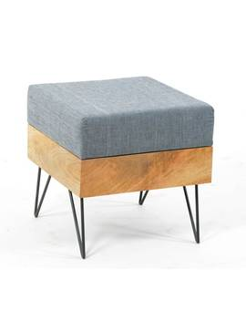 Aurelle Home Modern Square Ottoman by Aurelle Home