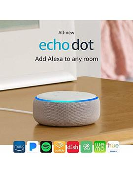 All New Echo Dot (3rd Gen)   Smart Speaker With Alexa   Sandstone by Amazon