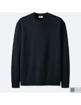 Men U Extra Fine Merino Crewneck Long Sleeve Sweater by Uniqlo