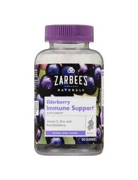 Zarbee's Naturals Elderberry Immune Support Gummies   Natural Berry   60ct by Zarbee's Naturals