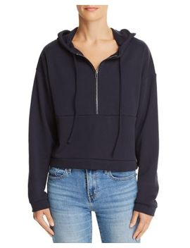 Half Zip Cropped Hooded Sweatshirt   100 Percents Exclusive by Honey Punch