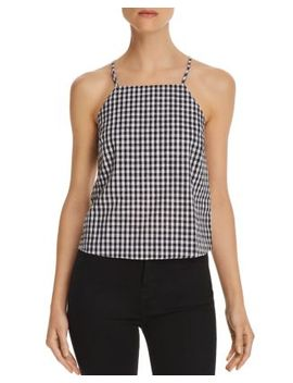 Gingham Button Back Top by Honey Punch