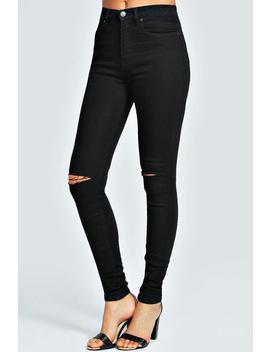 Black 5 Pocket Full Length Jeans by Boohoo