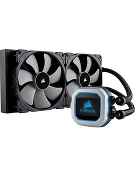 Corsair Hydro Series H115i Pro Rgb Aio Liquid Cpu Cooler, 280mm Radiator, Dual 140mm Ml Series Pwm Fans, Advanced Rgb Lighting And Fan Software Control by Corsair