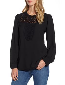 Lace & Crepe Blouse by Halogen®