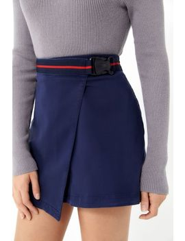Uo Naya Twill Buckle Belted Wrap Skirt by Urban Outfitters