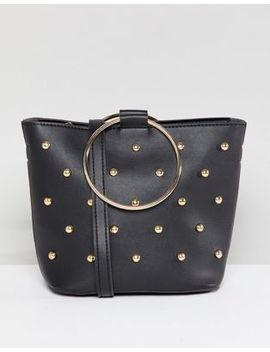 Melie Bianco Vegan Hoop Studded Bag by Bag