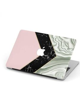 Agate Marble Chevron Zig Zag Mac Book Case, Mac Book Air Case, Mac Book Pro 13 Case, Mac Book Pro 15 Case, Retina Hard Laptop Case   Cream Pink by Etsy