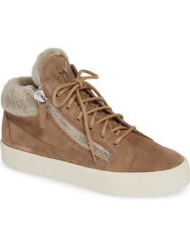 Giuseppe May London Mid Rise Lace Up Genuine Shearling Sneaker by Giuseppe Zanotti