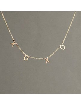 Spaced Letter Name Gold Necklace Also In Sterling Silver And Rose Gold Fill by Etsy