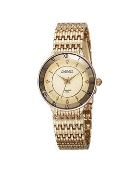 August Steiner Women's Quartz Roman Numerals Diamond Gold by August Steiner