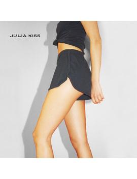 Women Casual Rib Dolphin Shorts by Julia Kiss