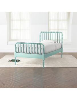 Jenny Lind Teal Bed by Crate&Barrel