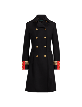 Wool Blend Officer's Coat by Ralph Lauren