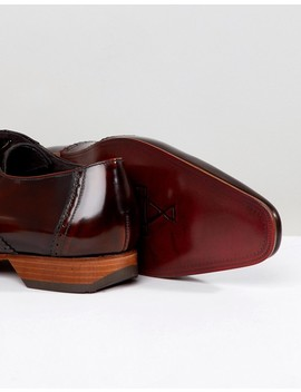 Jeffery West Escobar Croc Brogue Shoes In Brown by Jeffery West