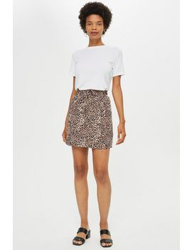 **Ella Animal Drawstring Mini Skirt By Nobody's Child by Topshop