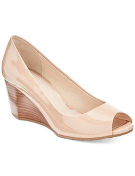 Sadie Peep Toe Wedge Pumps by Cole Haan