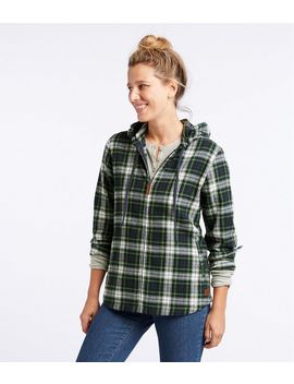 Scotch Plaid Flannel Shirt, Relaxed Zip Hoodie by L.L.Bean