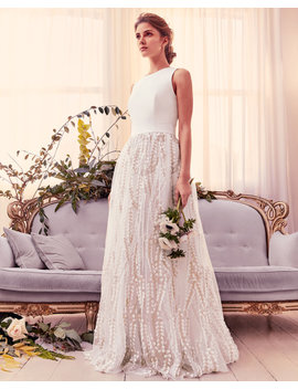 Floral Embroidered Maxi Dress With Train by Ted Baker