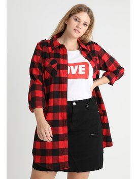 Check Lover Longline    Women's Shirt by City Chic