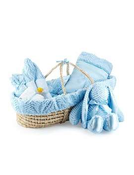 Ziggy Plush Gift Basket, Blue by Swankie Blankie