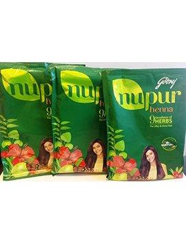 Godrej Nupur Henna Powder, 120 Grams X 3 Packs(360g) by Nupur