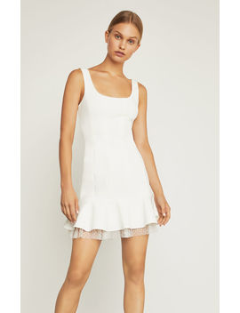 Scoop Neck Fluted Dress by Bcbgmaxazria