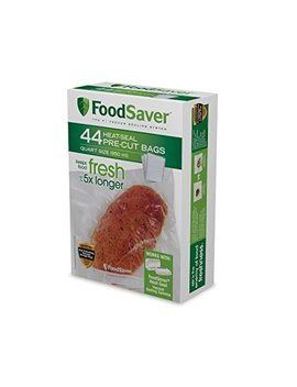 Food Saver 1 Quart Precut Vacuum Seal Bags With Bpa Free Multilayer Construction For Food Preservation, 44 Count by Food Saver
