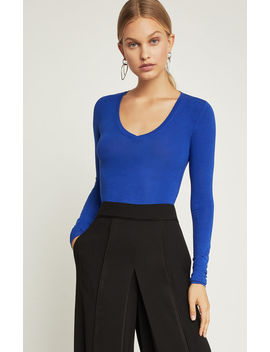 Scoop Neck Knit Top by Bcbgmaxazria